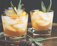 Festive Whisky Cocktail With Honey Sage Syrup