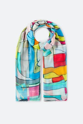Photo of Bold Print Outline Scarf