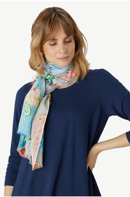 Paisley Summertime Scarf
