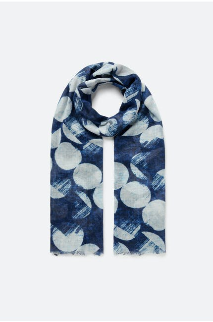 Smudged Circle Scarf