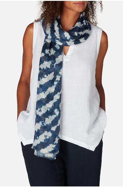 Photo of Smudged Stripe Scarf