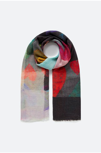 Photo of Graphic Heart Print Scarf