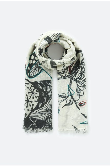 Embroidered Detail Scarf