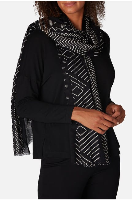 Photo of Zig Zag Print Scarf