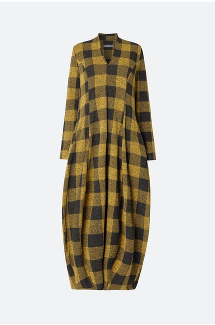 Photo of Check V Neck Dress