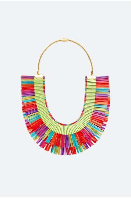 Alexandra Tsoukala Double Fringe Necklace