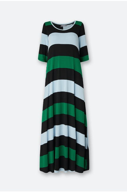 Stripe Short Sleeve Dress