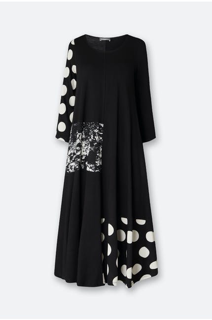Spot Sleeve Dress