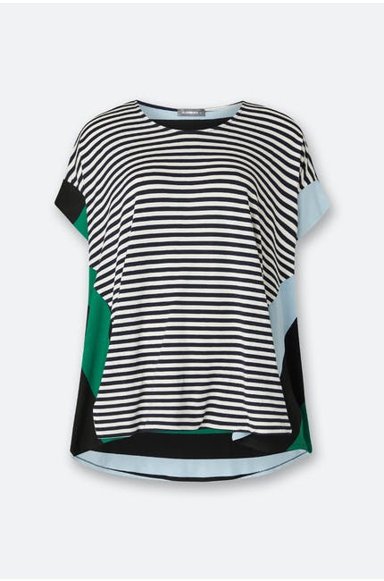 Photo of Stripe Dip Hem Top