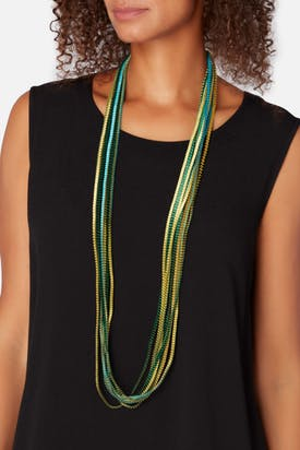 Photo of Long Pleated Necklace