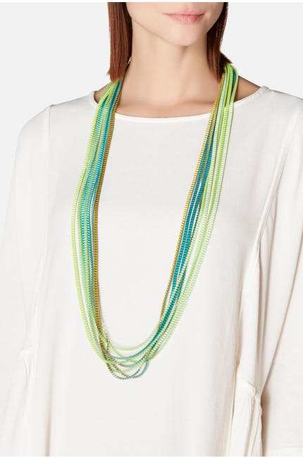 Long Pleated Necklace