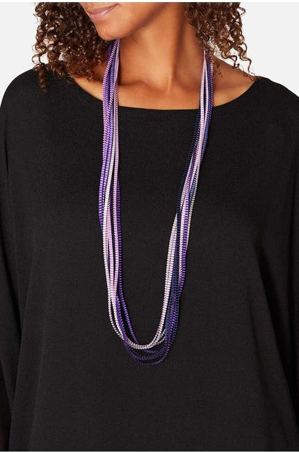 Alexandra Tsoukala Long Pleated Necklace
