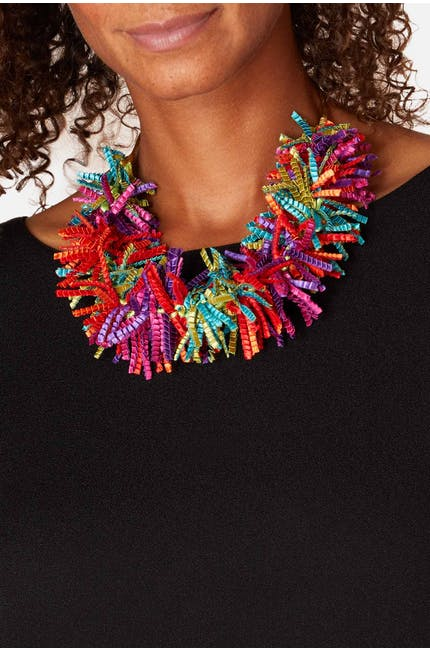 Photo of Pleated Fringe Necklace