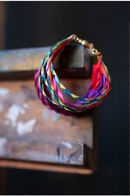 Photo of Woven Pleated Bracelet