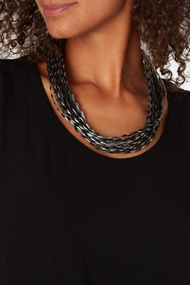 Photo of Woven Pleated Necklace
