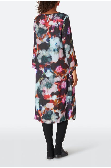 Anemone Blossom Print Dress