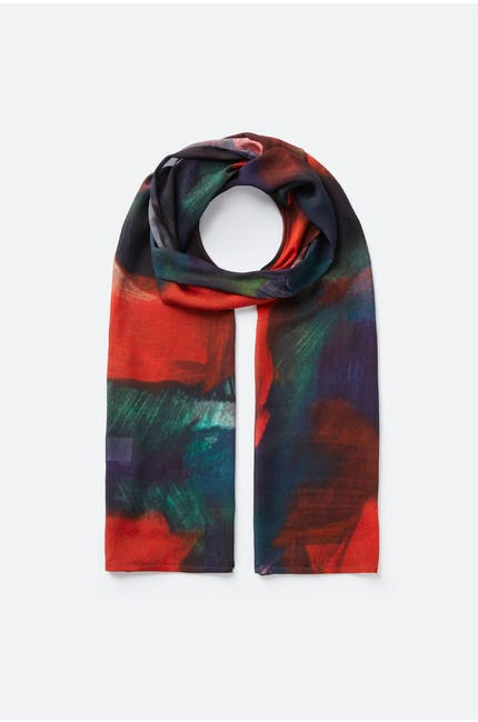 Painterly Block Print Scarf