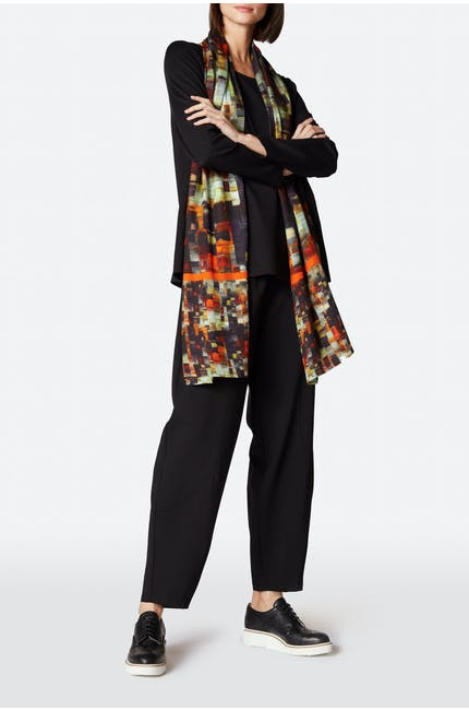 Painterly Print Woven Scarf