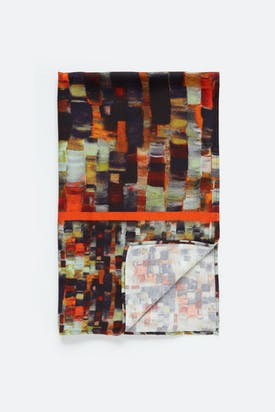 Photo of Painterly Print Woven Scarf