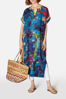 Photo of Brushstroke Print Kaftan