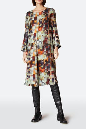Photo of Painterly Print Woven Dress