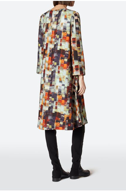 Painterly Print Woven Dress