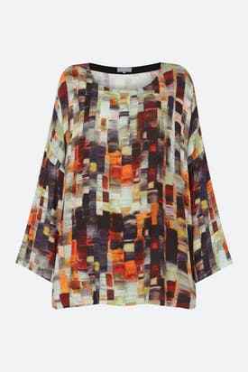 Photo of Painterly Print Woven Top