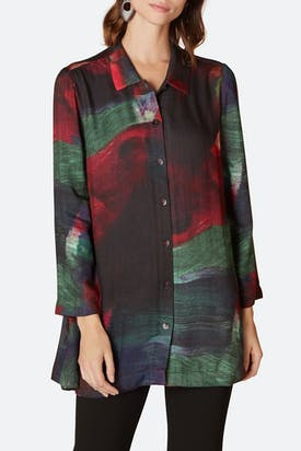 Photo of Painterly Block Print Shirt
