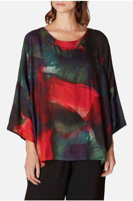 Photo of Painterly Block Print Top
