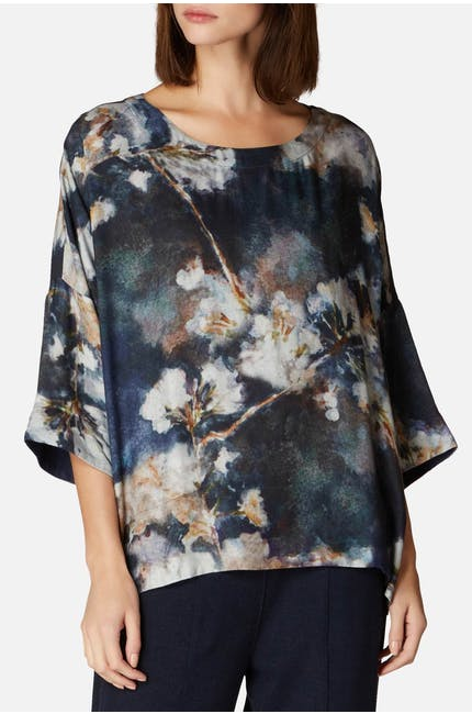 Japanese Blossom Print Top