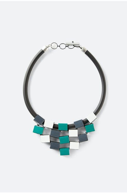 Aluminium Cube Necklace