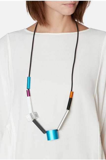 Christina Brampti Suspended Cylinders Necklace