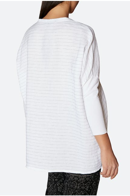 Stripe Jersey Sleeve Shirt
