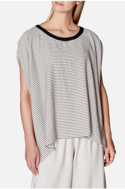 Crea Concept  Slash Stripe Top
