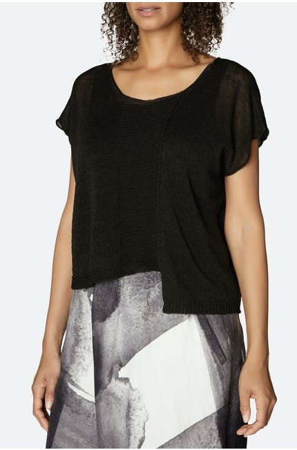 Crea Concept Sheer Knit Top