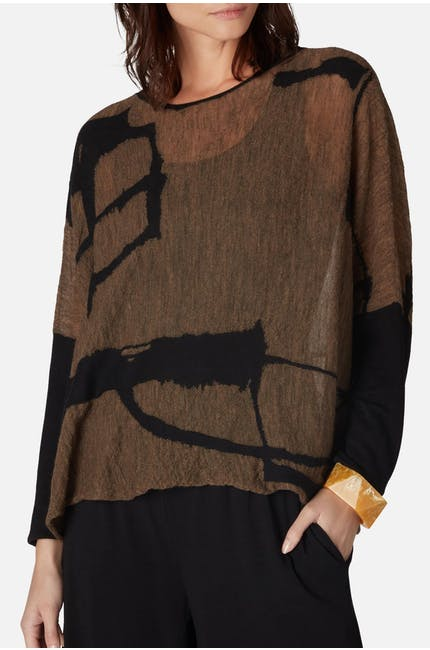 Photo of Graphic Short Knit Top