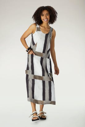 Photo of Grid Check Sleeveless Dress