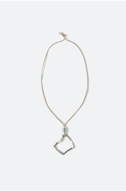 Crushed Square Necklace
