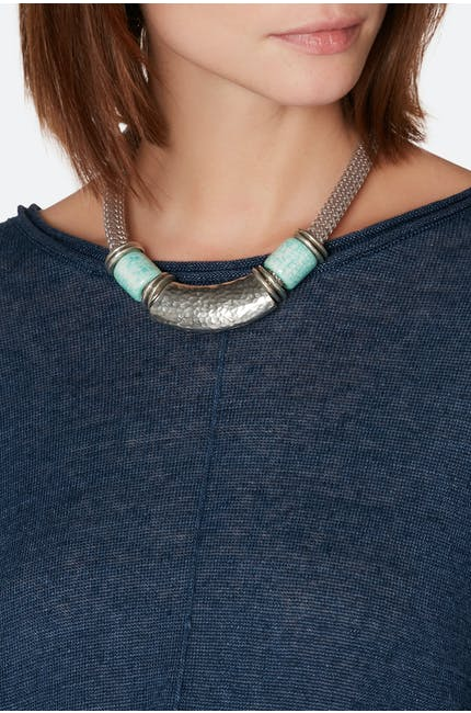 Short Marble Bead Necklace