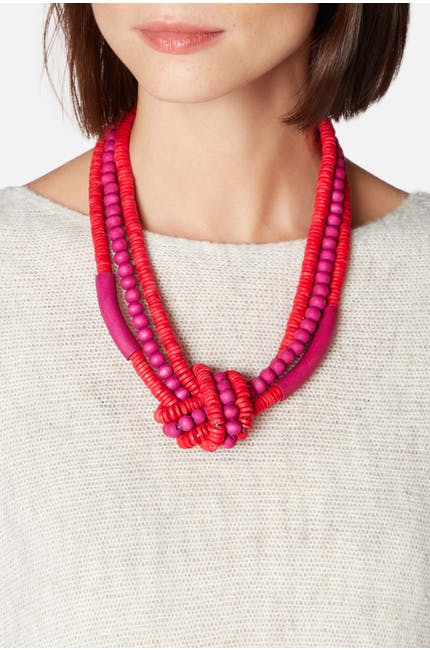 Knotted Bead Necklace