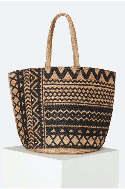 Tan, Black Etched Detail Basket