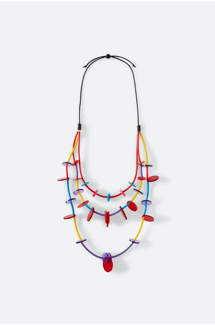 Triple Loop and Disc Necklace