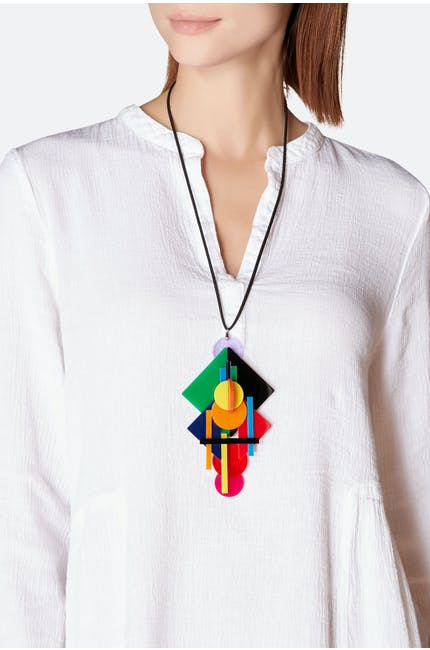 Photo of Layered Shapes Necklace