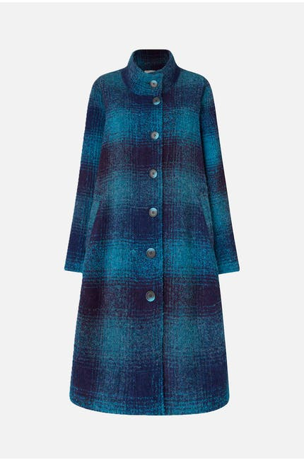 Photo of Plaid Boucle Coat
