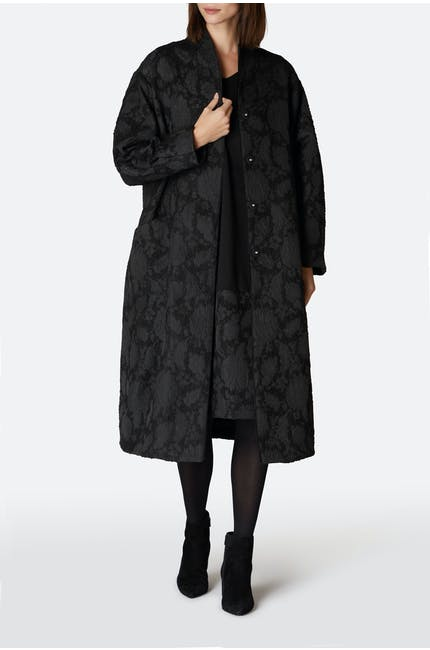 Photo of Floral Jacquard Boucle Coat