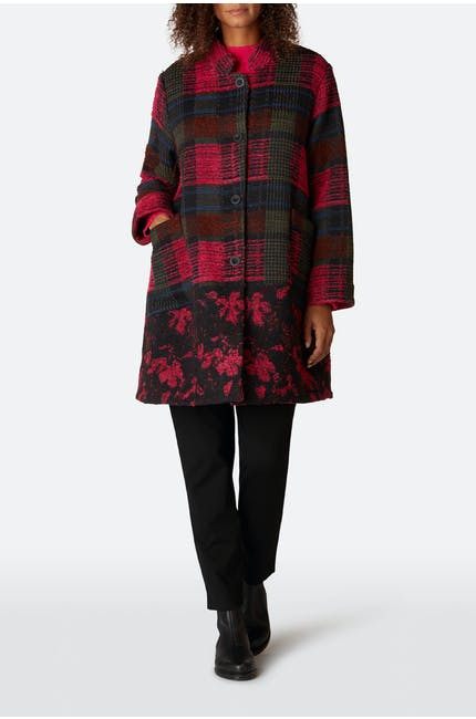 Photo of Floral Check Jacquard Coat