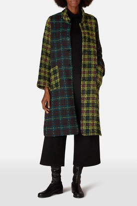 Photo of Check Patchwork Coat