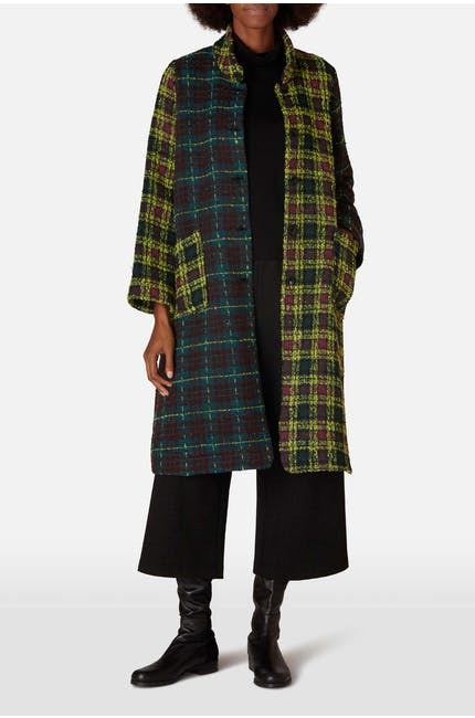 Check Patchwork Coat