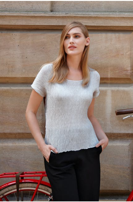 Feather Pleat Top