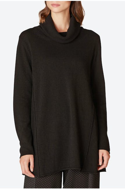 Cowl Neck Flared Jumper